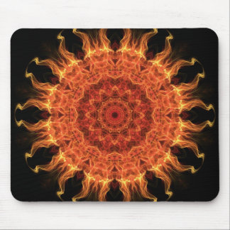 Flaming Sun Mouse Pad