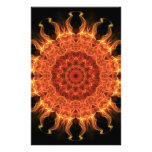 Flaming Sun Personalized Stationery