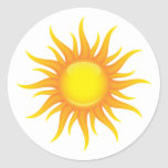 Flaming sun stickers