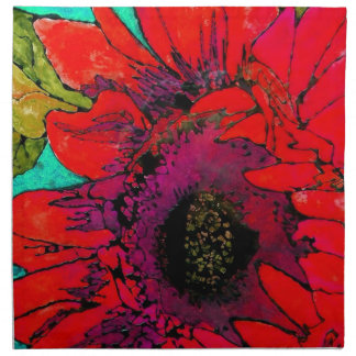 Flaming Sunflower Artsy Napkins