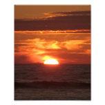Flaming Sunset Photo Print