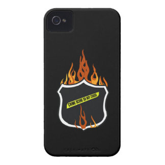Flaming Tattoo Police Badge iPhone 4 Case-Mate Cases