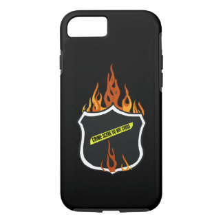 Flaming Tattoo Police Badge iPhone 8/7 Case