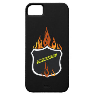 Flaming Tattoo Police Badge iPhone SE/5/5s Case
