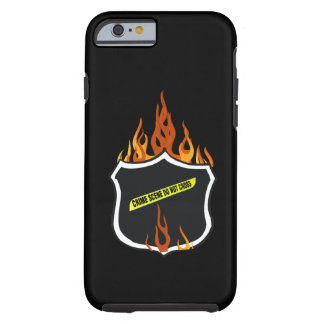 Flaming Tattoo Police Badge Tough iPhone 6 Case