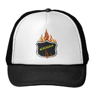 Flaming Tattoo Police Badge Trucker Hat