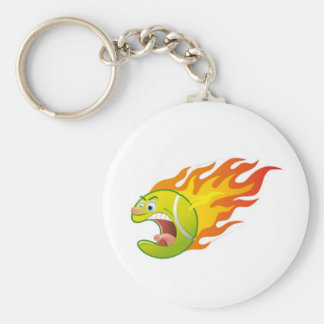 Flaming Tennis Ball Keychains