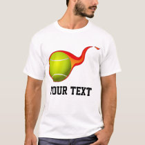 flaming tennis ball T-Shirt
