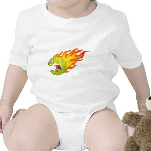 Flaming Tennis Ball Tshirt