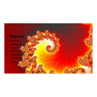 Flaming Tentacle - Fractal Art Business Card Templates
