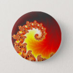 Flaming Tentacle - Fractal Art Button