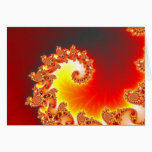 Flaming Tentacle - Fractal Art Card