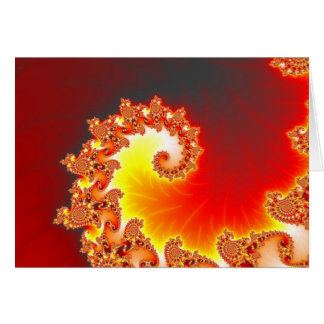 Flaming Tentacle - Fractal Art Cards