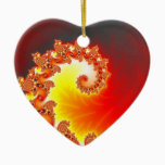 Flaming Tentacle - Fractal Art Ceramic Ornament