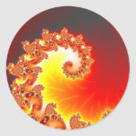 Flaming Tentacle - Fractal Art Classic Round Sticker