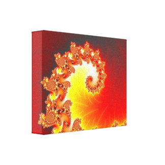 Flaming Tentacle - Fractal Art Gallery Wrap Canvas