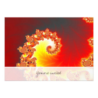 Flaming Tentacle - Fractal Art Personalized Announcement