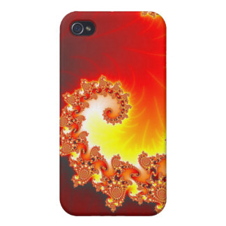 Flaming Tentacle - Fractal Art iPhone 4/4S Case