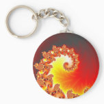 Flaming Tentacle - Fractal Art Keychain