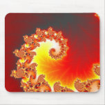 Flaming Tentacle - Fractal Art Mouse Pad