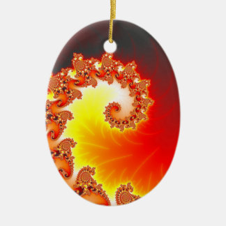 Flaming Tentacle - Fractal Art Christmas Ornaments