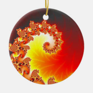 Flaming Tentacle - Fractal Art Christmas Tree Ornament