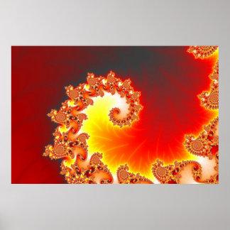 Flaming Tentacle - Fractal Art Poster