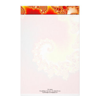 Flaming Tentacle - Fractal Art Personalized Stationery