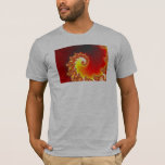 Flaming Tentacle - Fractal Art T-Shirt