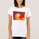 Flaming Tentacle - Fractal Art T-Shirt