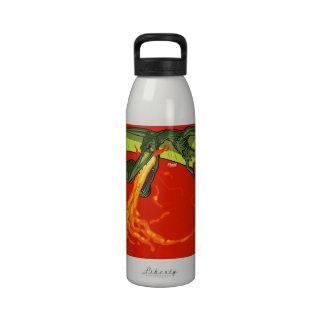 Flaming-throwing Pterodactyl Dinosaur - Sean Moore Drinking Bottles