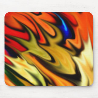 Flaming Tiffany Flow Mouse Pad