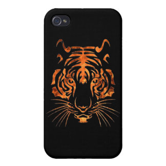 Flaming tiger iPhone 4/4S case