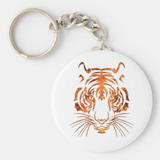 Flaming tiger keychain