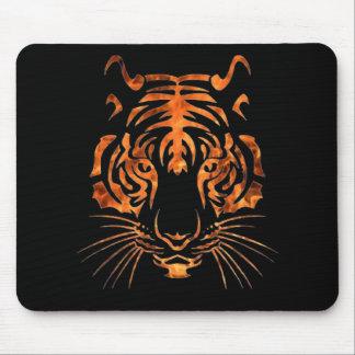 Flaming tiger mouse pad