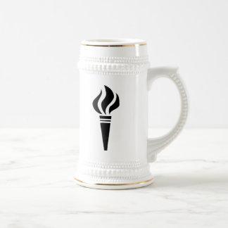 Flaming Torch 18 Oz Beer Stein