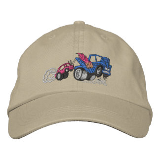 Flaming Tow Truck Embroidered Baseball Cap