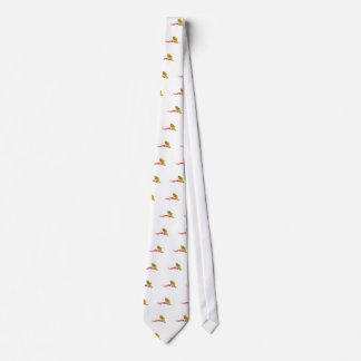 Flaming Track Logo Tie