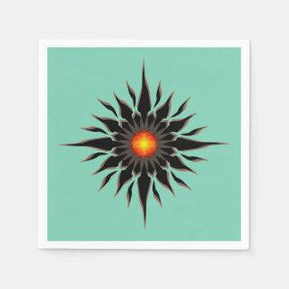 Flaming Tribal Sun Napkin