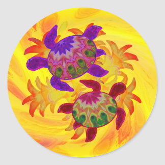 Flaming Turtles Stickers