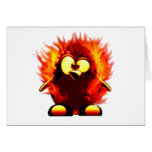 Flaming Tux (Penguin Torch) Cards