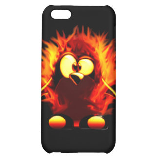 Flaming Tux (Penguin Torch) Cover For iPhone 5C