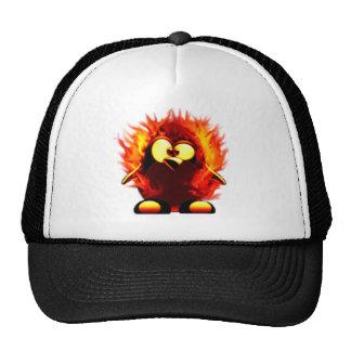 Flaming Tux (Penguin Torch) Mesh Hats