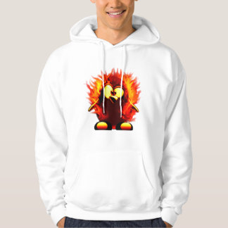 Flaming Tux (Penguin Torch) Hoodie