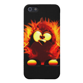 Flaming Tux (Penguin Torch) iPhone 5 Cover