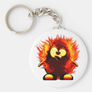 Flaming Tux (Penguin Torch) Keychain