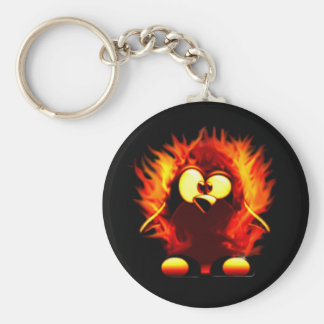 Flaming Tux (Penguin Torch) Keychains