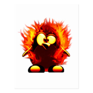 Flaming Tux (Penguin Torch) Post Card