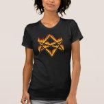Flaming Unicursal Hexagram T-Shirt