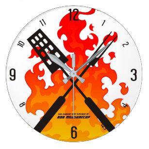 Kitchen Utensils Wall Clocks Zazzle
